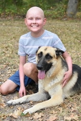 Trevor Daniel, GCS 5th grade student and his dog Scout